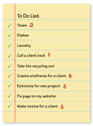 Iowa web designer who's working from home sample checklist.