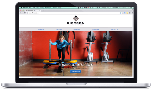 Rierson Fitness website design and development