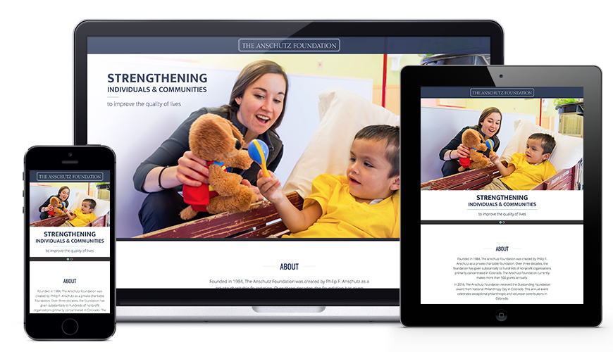 The Anschutz Foundation website design and development